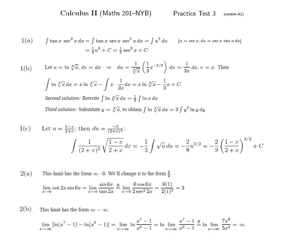 Cal II Course Materials